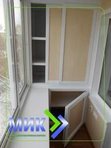 Встроенная мебель для балконов и лоджий заказать в Челно-вер.